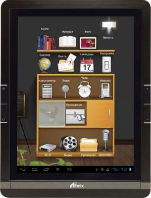 Электронная книга Ritmix RBK-499 (microSD 4Gb) - фронтальный вид