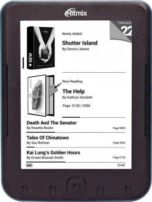 Электронная книга Ritmix RBK-620 (microSD 4Gb) - фронтальный вид