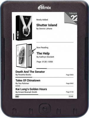 Электронная книга Ritmix RBK-620 (microSD 8Gb) - фронтальный вид