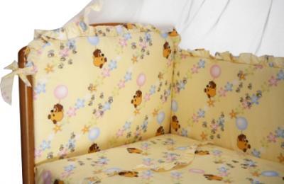 Комплект в кроватку Perina Роза Р4-02.2 (Винни бежевый) - расцветка