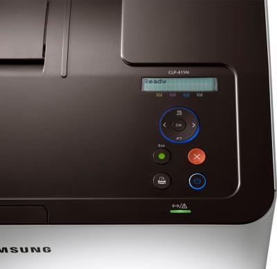 Принтер Samsung CLP-415N - панель управления