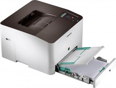 Принтер Samsung CLP-415N - общий вид (открытый лоток)