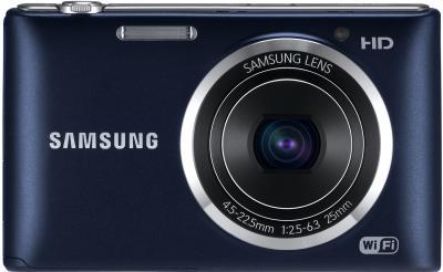 Компактный фотоаппарат Samsung ST150F Black (EC-ST150FBPBRU) - вид спереди