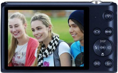 Компактный фотоаппарат Samsung ST150F Black (EC-ST150FBPBRU) - вид сзади