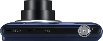 Компактный фотоаппарат Samsung ST72 Black (EC-ST72ZZBPBRU) - вид спереди