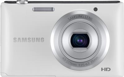 Компактный фотоаппарат Samsung ST72 White (EC-ST72ZZBPWRU) - вид спереди