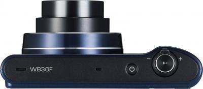 Компактный фотоаппарат Samsung WB30F Black (EC-WB30FZBPBRU) - вид сверху