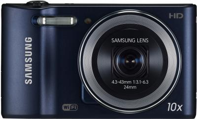 Компактный фотоаппарат Samsung WB30F Black (EC-WB30FZBPBRU) - вид спереди