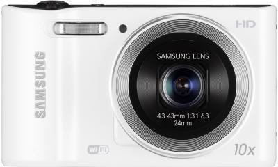 Компактный фотоаппарат Samsung WB30F White (EC-WB30FZBPWRU) - вид спереди