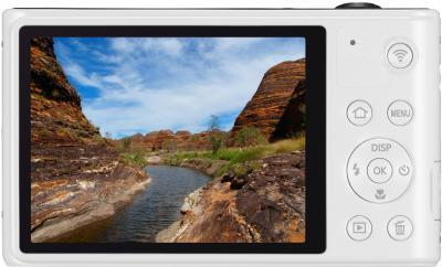 Компактный фотоаппарат Samsung WB30F White (EC-WB30FZBPWRU) - вид сзади