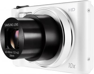 Компактный фотоаппарат Samsung WB30F White (EC-WB30FZBPWRU) - общий вид