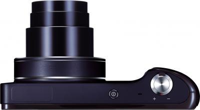 """Компактный фотоаппарат Samsung Galaxy Camera EK-GC100 (черный) - вид сверху: объектив в положении """"теле"""""""