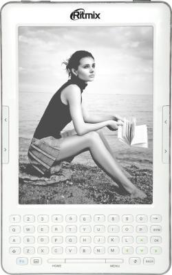 Электронная книга Ritmix RBK-750 White (microSD 8Gb) - фронтальный вид