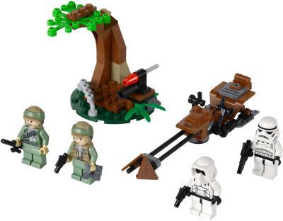 Конструктор Lego Star Wars Повстанцы на Эндоре и штурмовики Империи (9489)  - общий вид