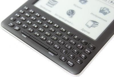 Электронная книга Ritmix RBK-750 Black (microSD 4Gb) - QWERTY-клавиатура