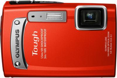 Компактный фотоаппарат Olympus TG-320 Red - общий вид