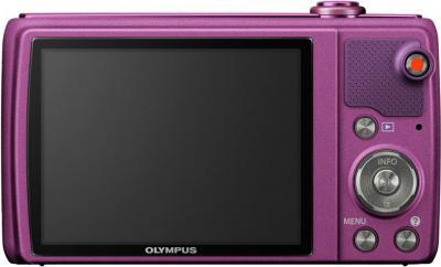 Компактный фотоаппарат Olympus VR-350 Purple - вид сзади