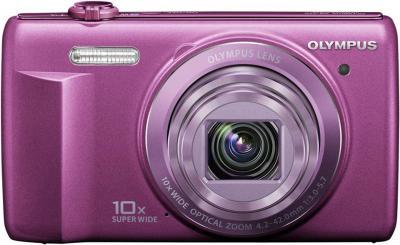 Компактный фотоаппарат Olympus VR-350 Purple - вид спереди