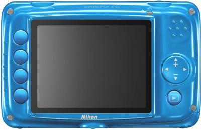 Компактный фотоаппарат Nikon Coolpix S30 Blue - вид сзади