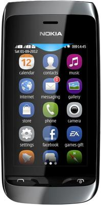 Мобильный телефон Nokia Asha 308 Black - общий вид