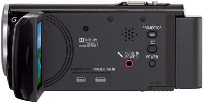 Видеокамера Sony HDR-PJ320E Black - входы/выходы