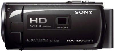 Видеокамера Sony HDR-PJ320E Black - вид сбоку