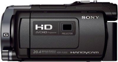 Видеокамера Sony HDR-PJ650E Black - вид сбоку
