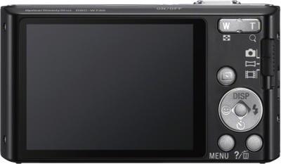 Компактный фотоаппарат Sony Cyber-shot DSC-W730 Black - вид сзади