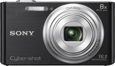 Компактный фотоаппарат Sony Cyber-shot DSC-W730 Black - вид спереди