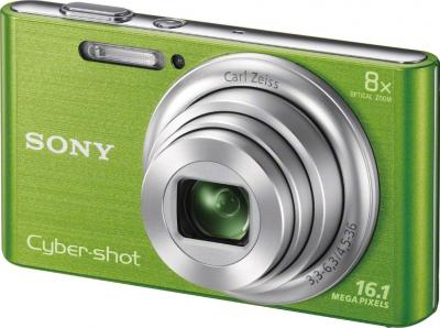 Компактный фотоаппарат Sony Cyber-shot DSC-W730 Green - общий вид