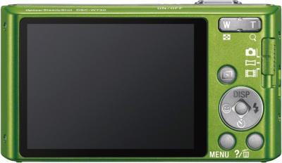 Компактный фотоаппарат Sony Cyber-shot DSC-W730 Green - вид сзади