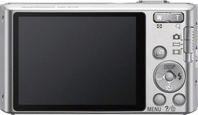 Компактный фотоаппарат Sony Cyber-shot DSC-W730 Silver - вид сзади