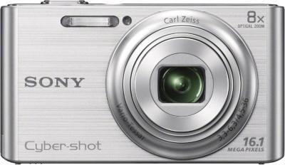 Компактный фотоаппарат Sony Cyber-shot DSC-W730 Silver - вид спереди