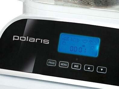 Пароварка Polaris PFS0308D White - дисплей