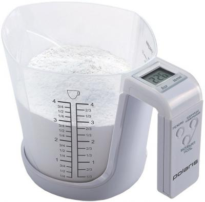 Кухонные весы Polaris PKS0322D (White) - вполоборота