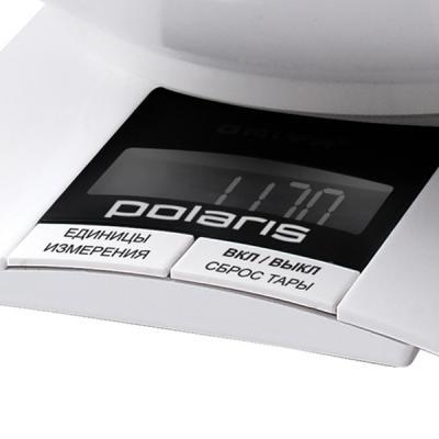 Кухонные весы Polaris PKS0323DL (белый) - дисплей