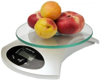 Кухонные весы Polaris PKS0512DG (White-Pearl) - вполоборота