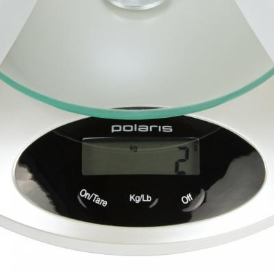 Кухонные весы Polaris PKS0512DG (White-Pearl) - дисплей