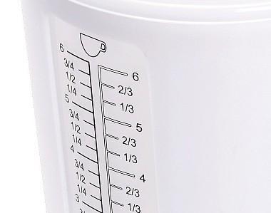 Кухонные весы Polaris PKS0521DL (White) - шкала измерения