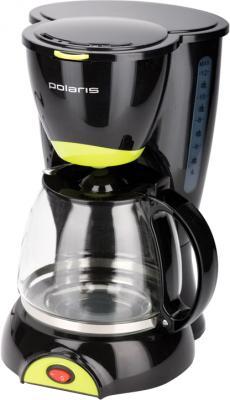 Капельная кофеварка Polaris PCM1211 (черный/салатовый) - общий вид