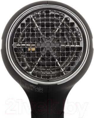 Компактный фен Polaris PHD1464T (черный/хром)