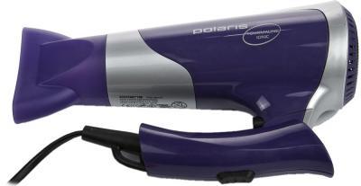 Компактный фен Polaris PHD1667TTi (фиолетово-серебристый) - в сложенном виде