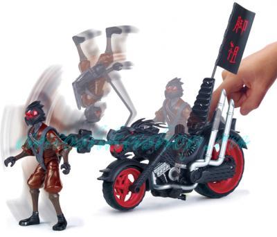 """Игровой набор Playmates Toys """"Черепашки Ниндзя"""" Мотоцикл с фигуркой (94003) - приём ниндзя"""