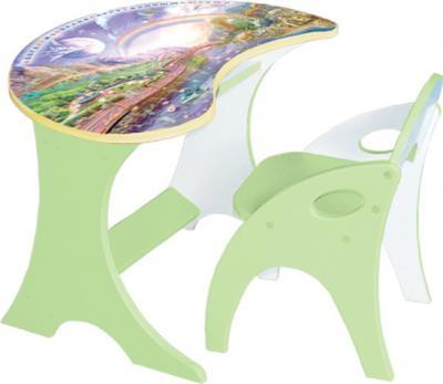 Стол+стул Интехпроект Капелька Космошкола 14-303 (фисташковый) - общий вид