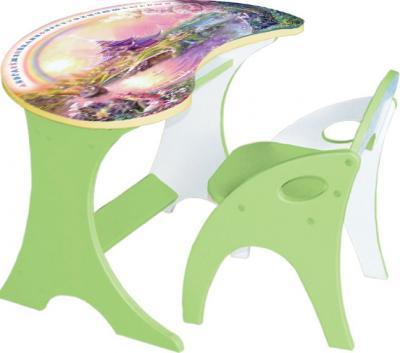 Стол+стул Интехпроект Капелька Волшебный остров 14-308 (фисташковый) - общий вид