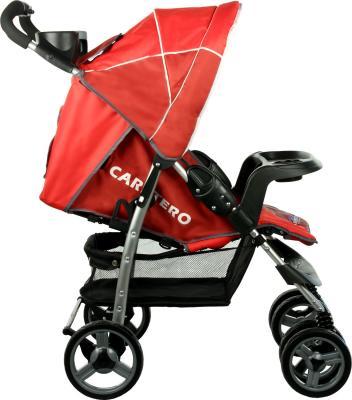 Детская прогулочная коляска Caretero Monaco (Red) - вид сбоку