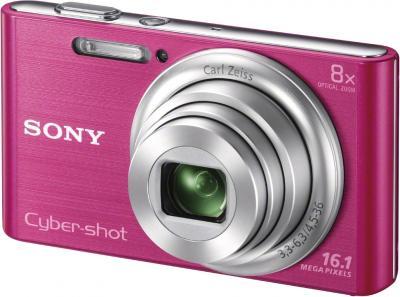 Компактный фотоаппарат Sony Cyber-shot DSC-W730 Pink - общий вид