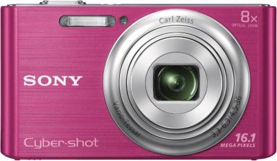 Компактный фотоаппарат Sony Cyber-shot DSC-W730 Pink - вид спереди