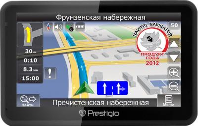 GPS навигатор Prestigio GeoVision 5166 (PGPS5166CIS04GBNV) - вид спереди