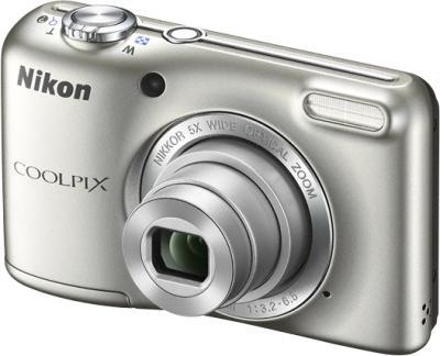 Компактный фотоаппарат Nikon Coolpix L27 Silver - общий вид